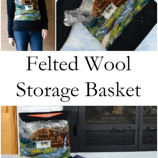 Felted Wool Storage Basket // heatherhandmade.com
