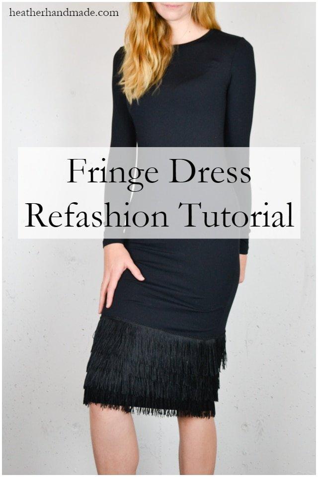Fringe Dress Refashion Tutorial // heatherhandmade.com