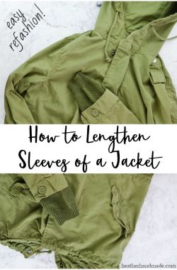 lengthen sleeves jacket