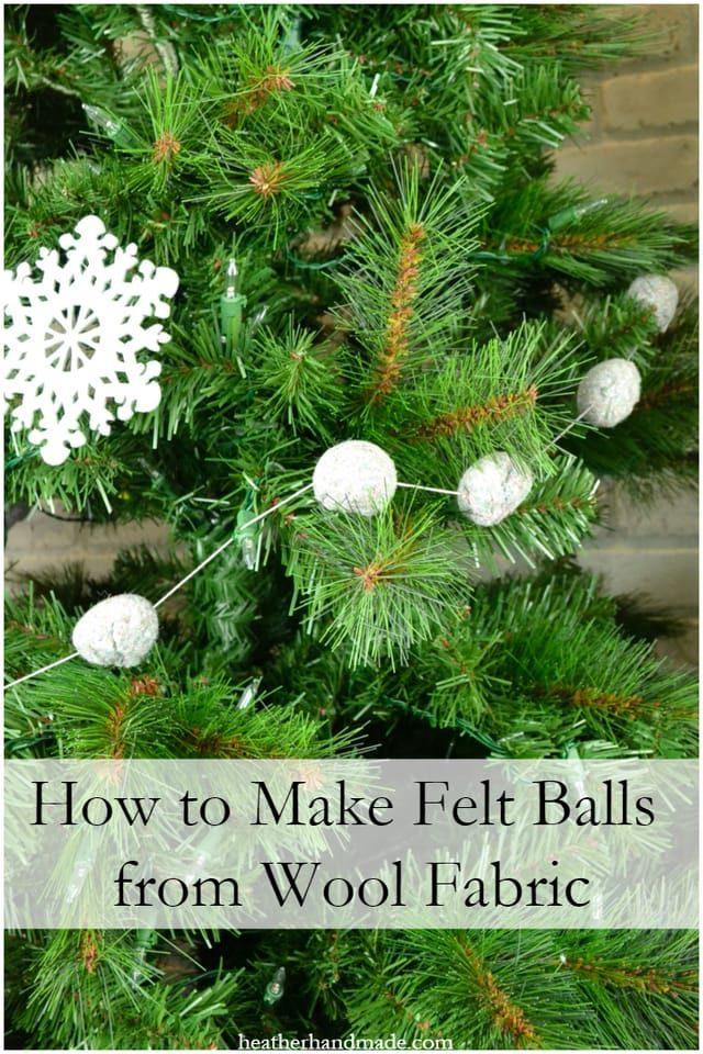 How to Make Felt Balls from Wool Fabric // heatherhandmade.com
