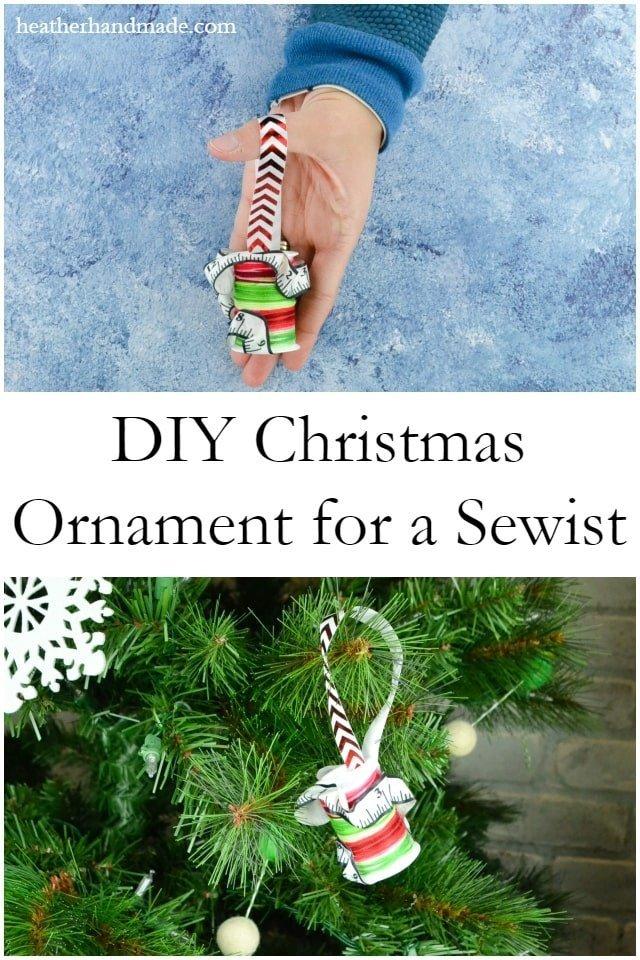 DIY Christmas Ornament for a Sewist // heatherhandmade.com