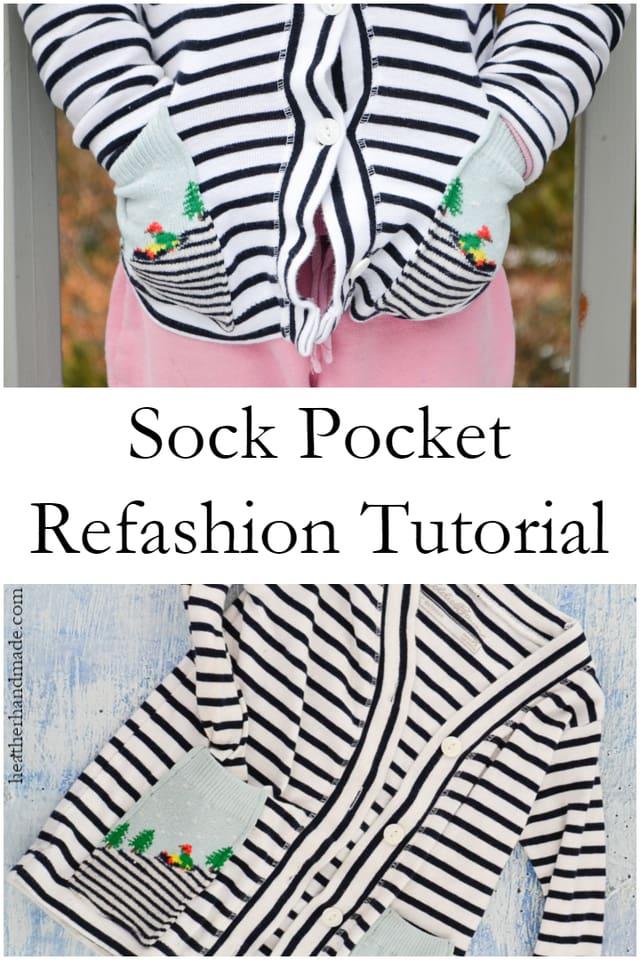 Upcycled Sock Pockets