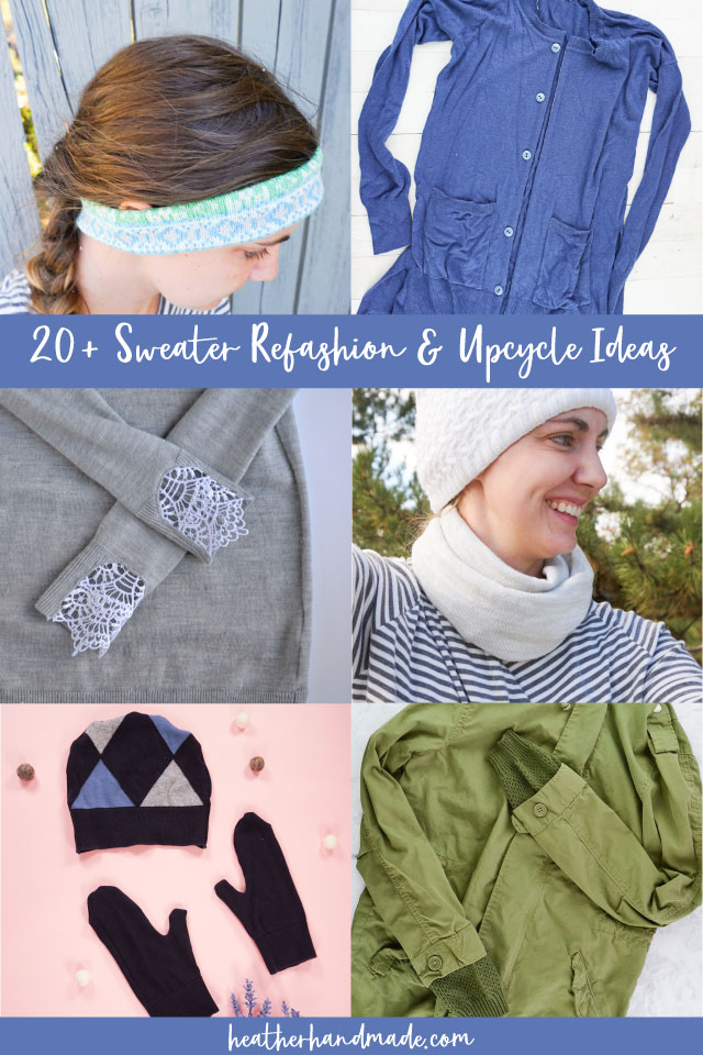 25 Sweater Refashion and Upcycle Ideas