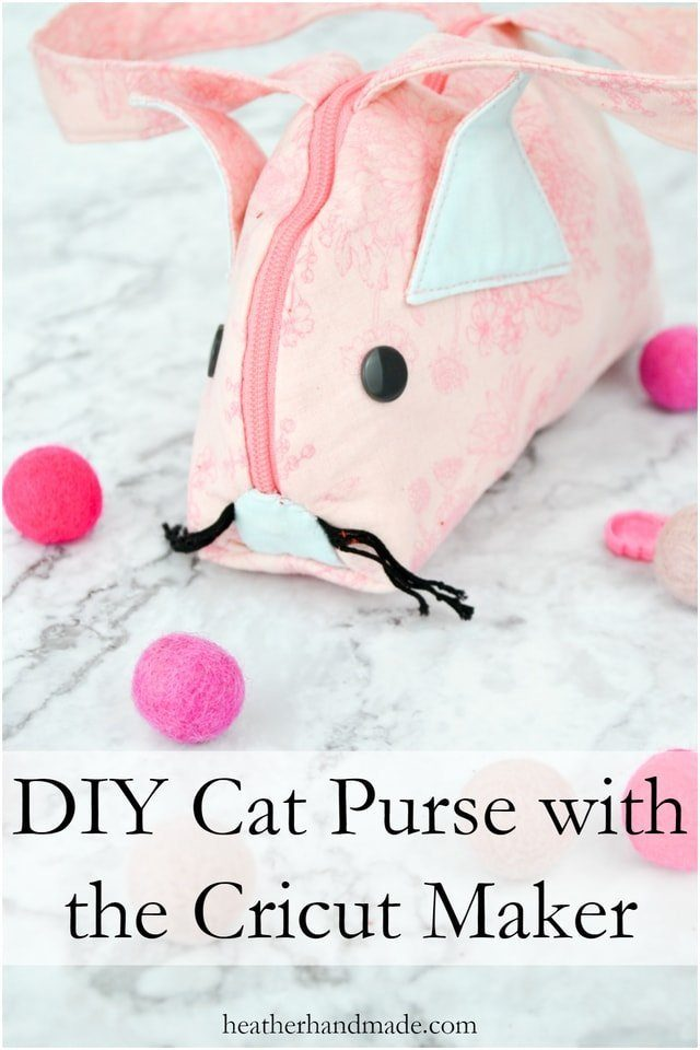 DIY Cat Purse with the Cricut Maker // heatherhandmade.com