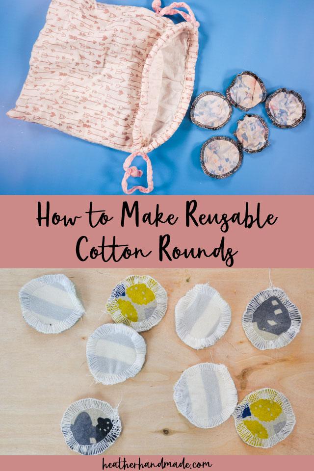 How to Make DIY Reusable Cotton Rounds