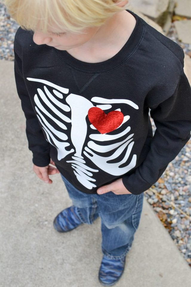 Free Skeleton Heart SVG File