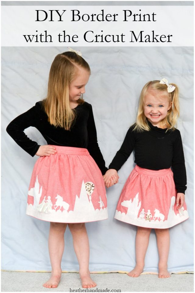 DIY Border Print Skirt // heatherhandmade.com