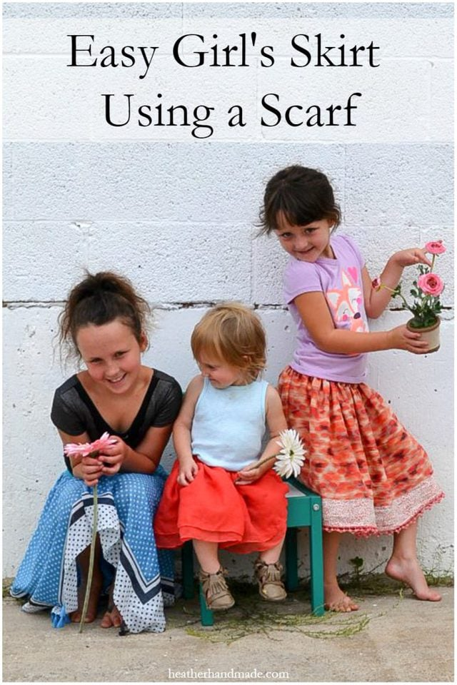 How to Make a Skirt from a Scarf