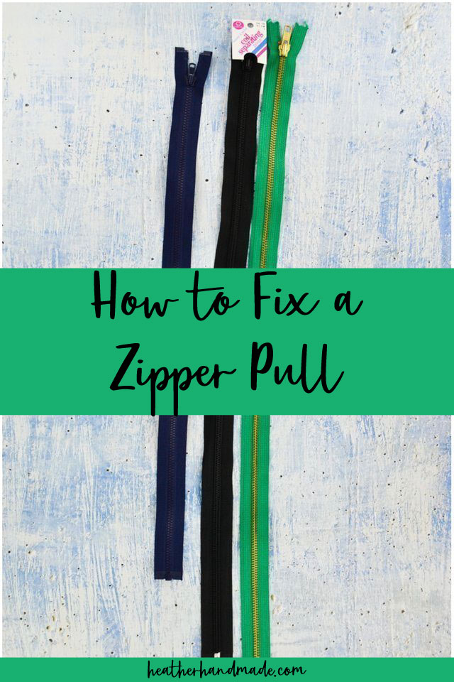 how to fix a zipper if the pull came off