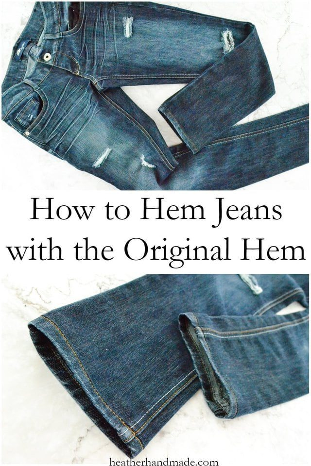 How to Hem Jeans with the Original Hem // heatherhandmade.com