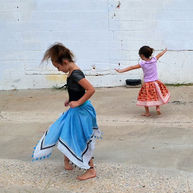 Refashioned Skirt Tutorial with Scarves // heatherhandmade.com