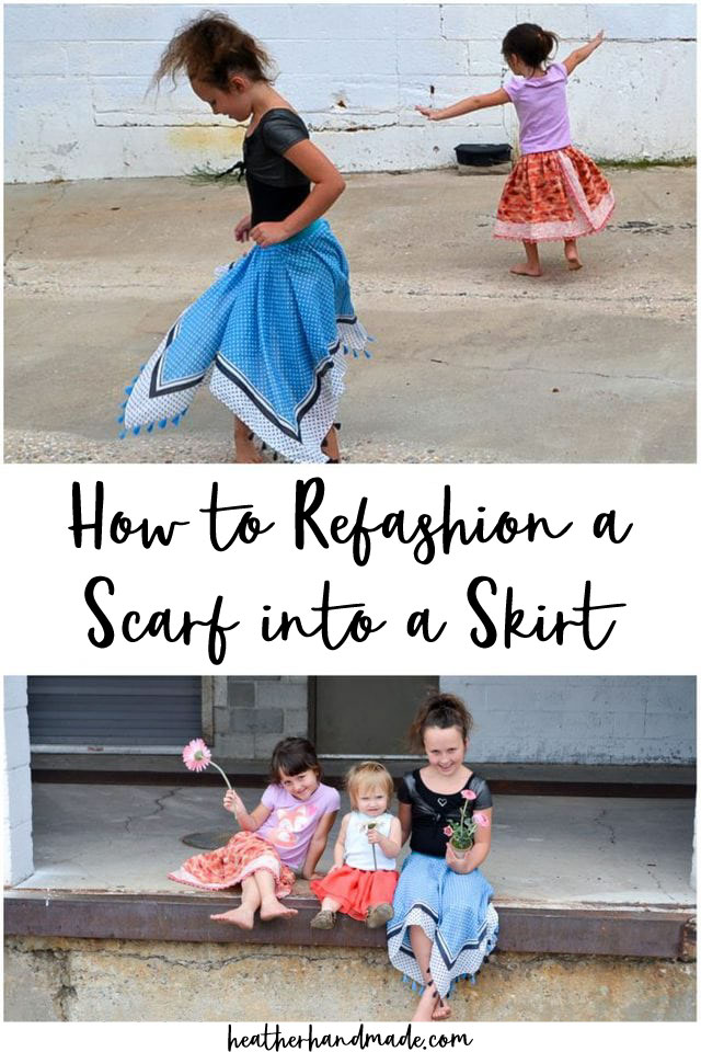 how to refashion a scarf into a skirt