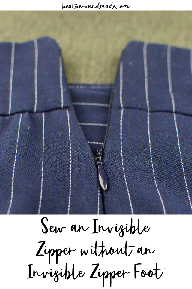How To Sew an Invisible Zipper without an Invisible Zipper Foot
