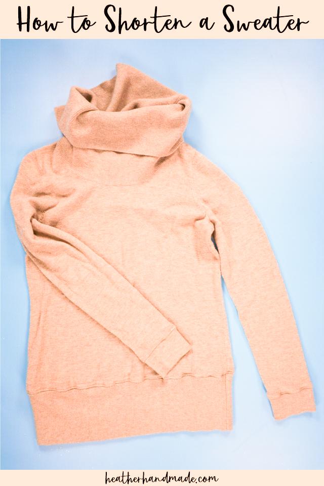 how to shorten a sweater