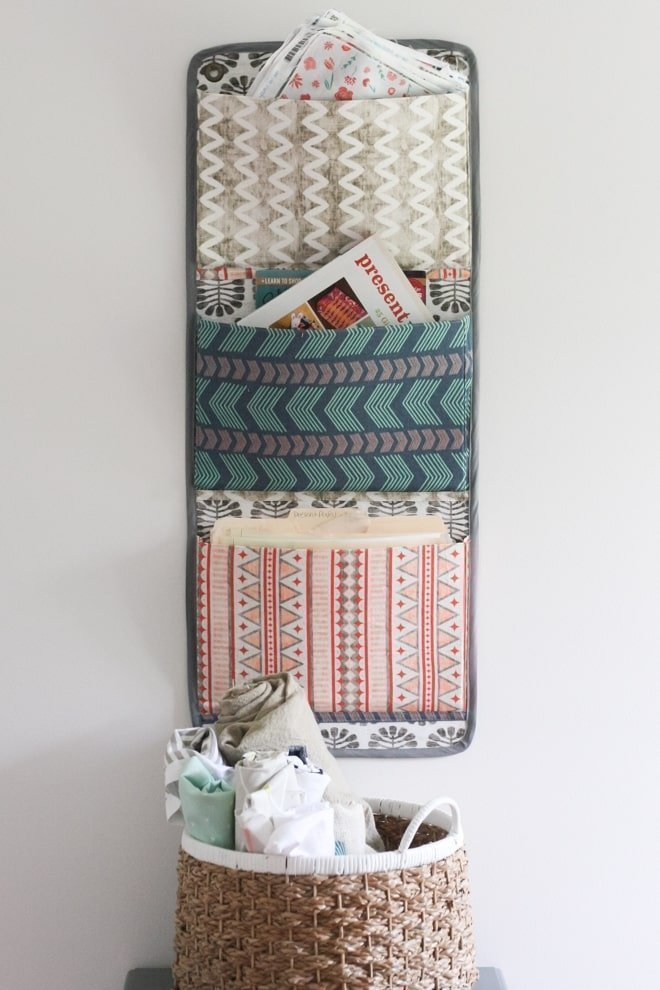 DIY Fabric Wall Organizer