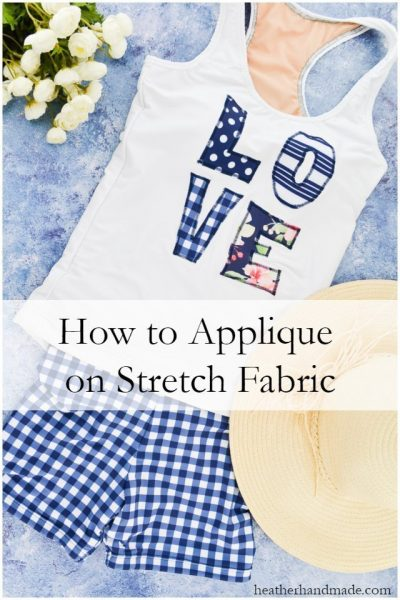 How to Applique on Stretch Fabric // heatherhandmade.com