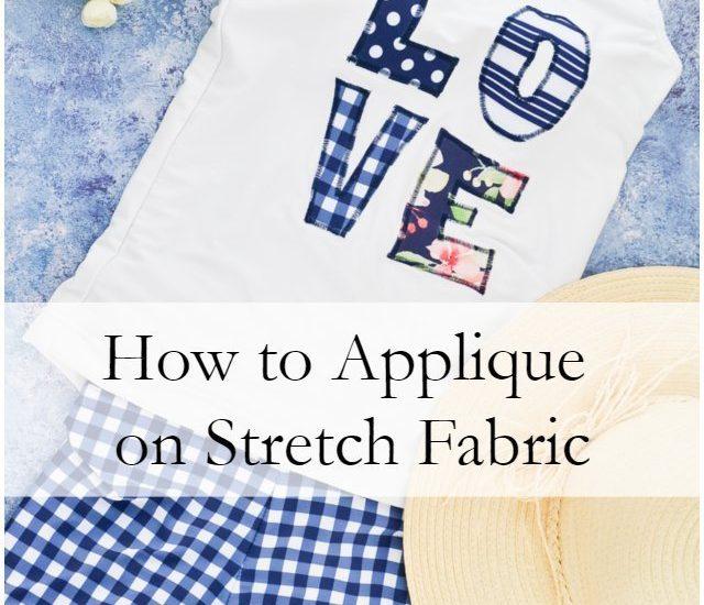 How to Applique on Stretch Fabric // heatherhandmade.com