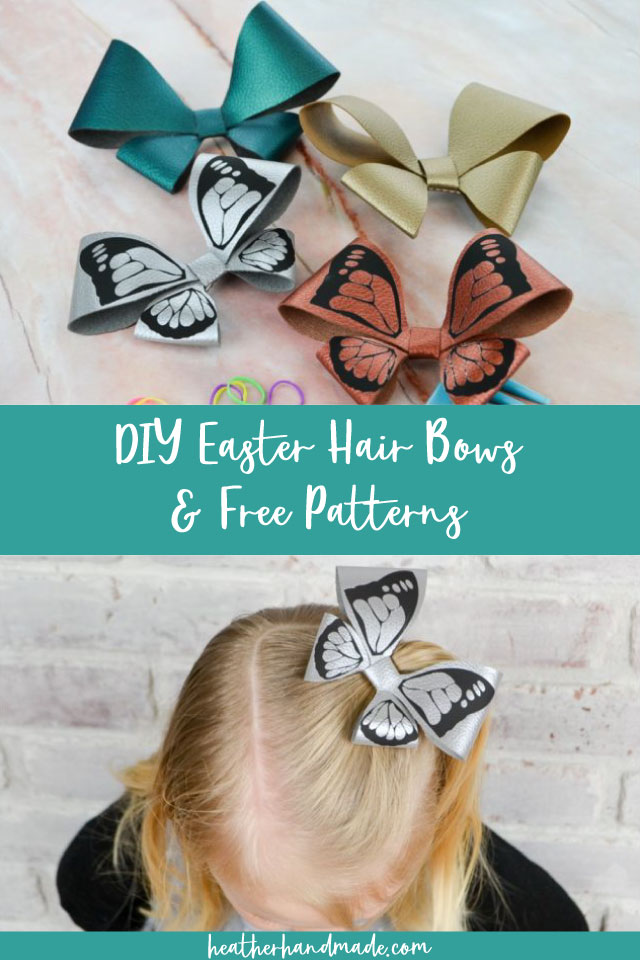 Easter Hair Bows and Free Patterns
