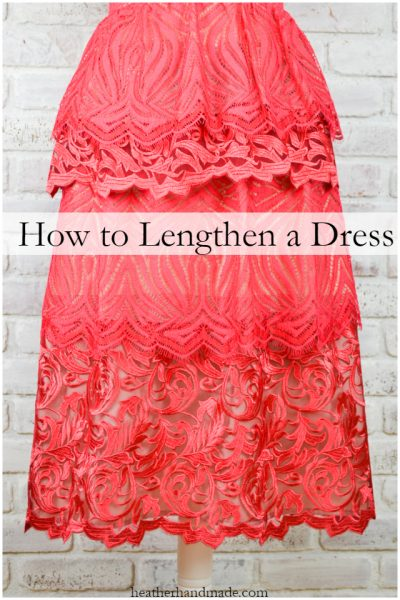 How to Make a Dress Longer // heatherhandmade.com