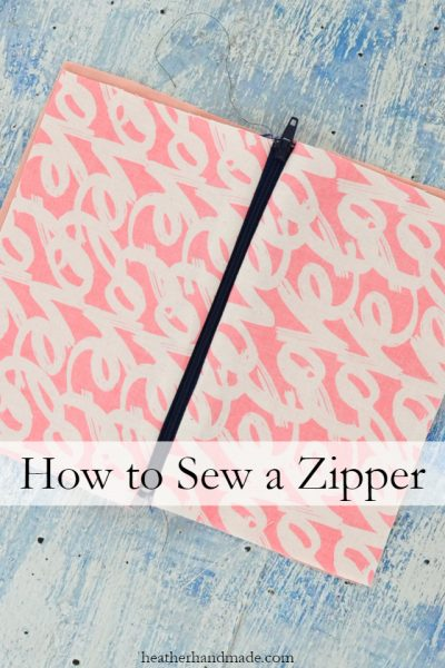 How to Sew a Zipper // heatherhandmade.com
