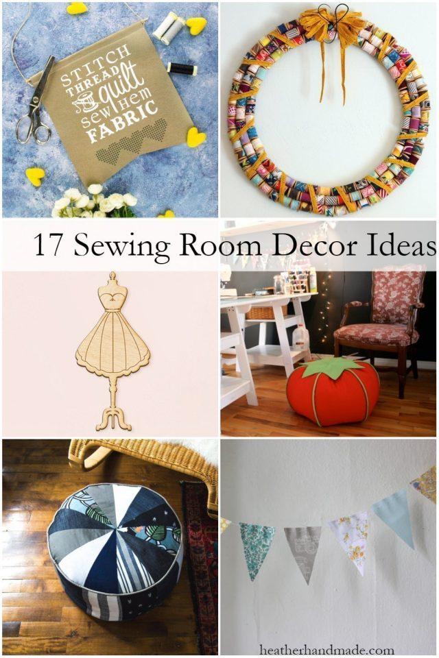 17 Unique Sewing Room Decor Ideas // heatherhandmade.com