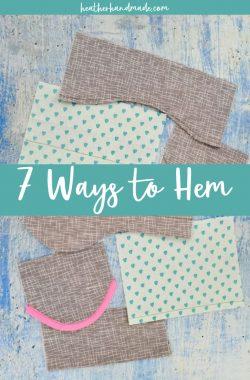 7 different ways to hem