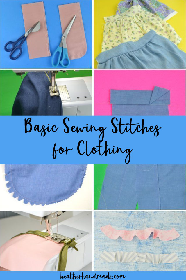 Basic Sewing Stitches for Clothing