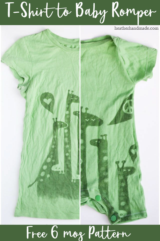 diy t-shirt to baby romper