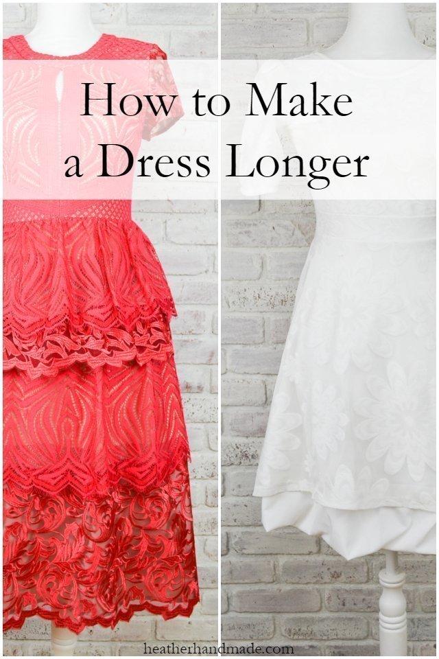 How to Make a Dress Longer