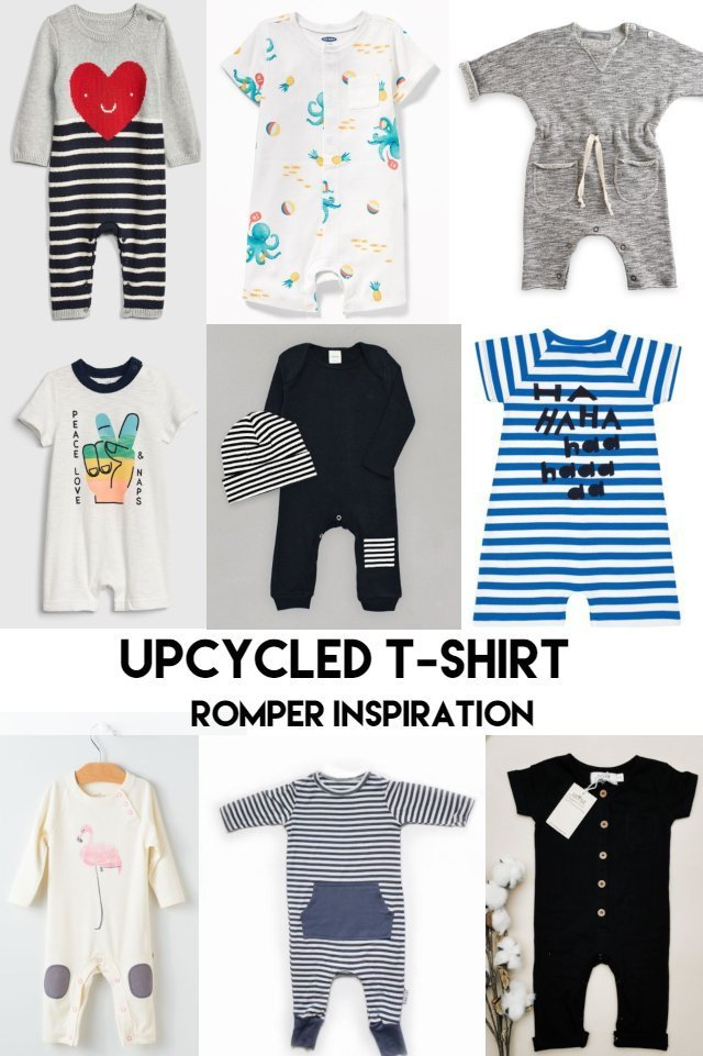 Inspiration for the Upcycled T-Shirt Romper and Dress