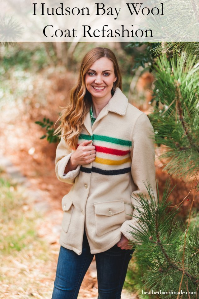 Hudson's Bay Wool Coat Refashion