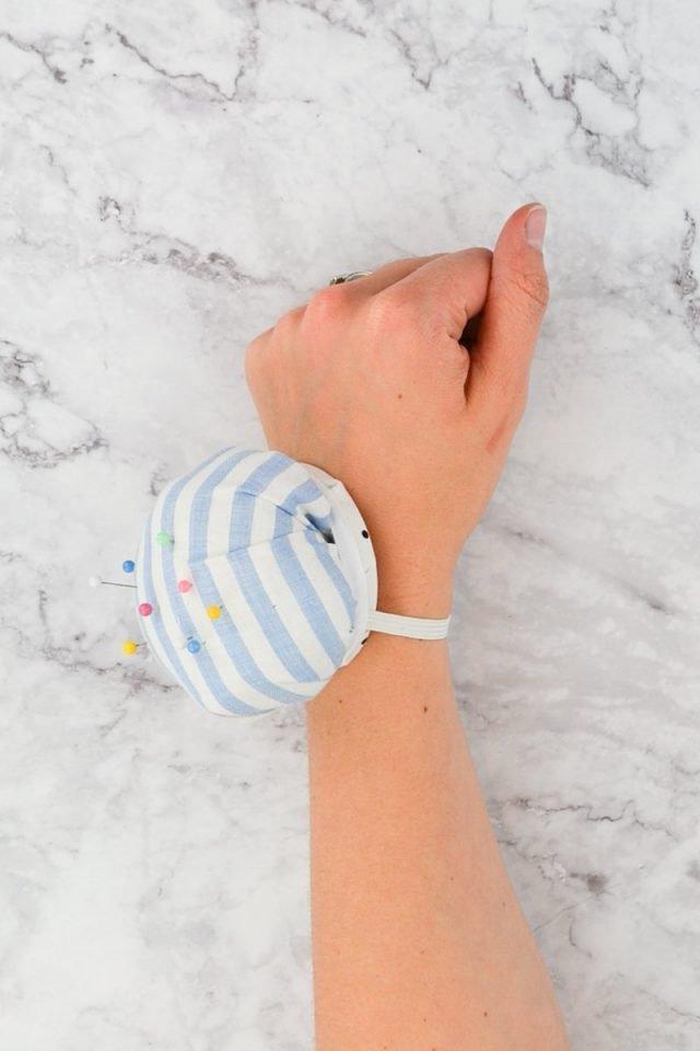 upcycle wrist pincushion