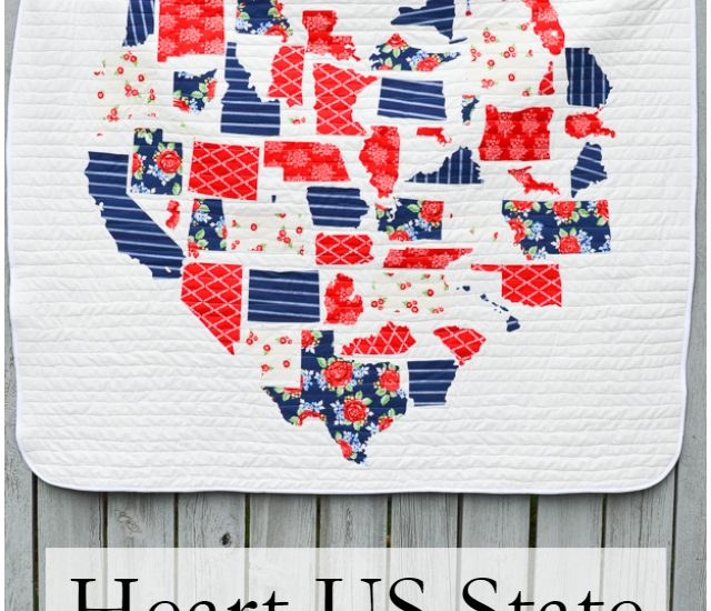 us state map quilt