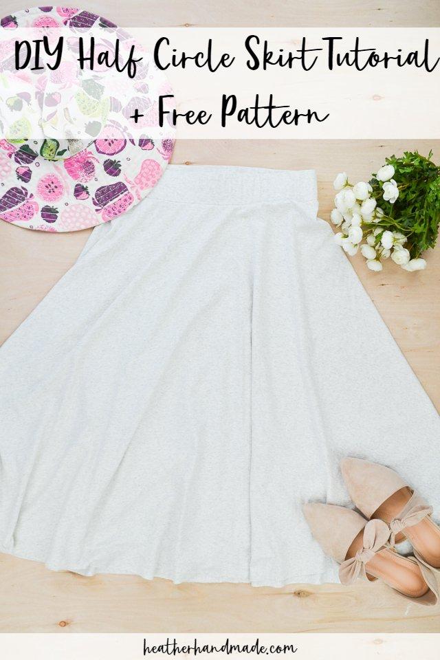 diy half circle skirt tutorial + free pattern