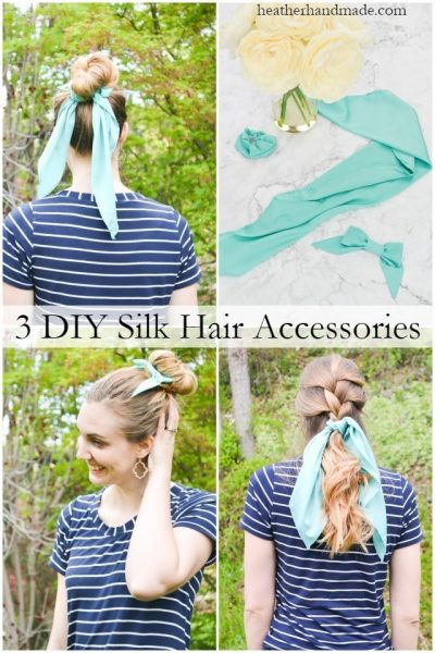 diy silk hair accessories