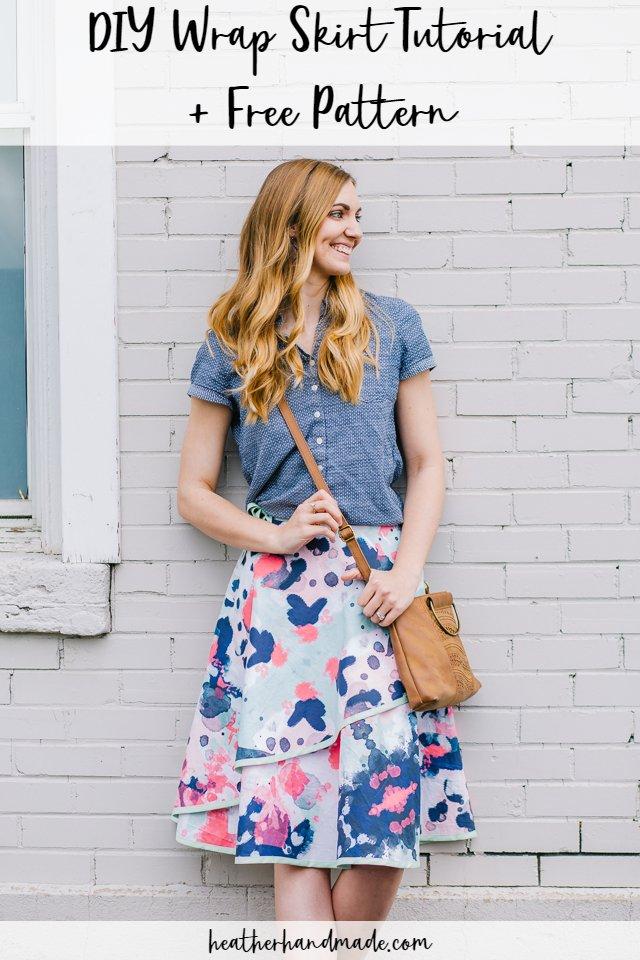 DIY Wrap Skirt + Free Pattern