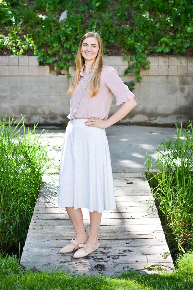 wear half circle skirt