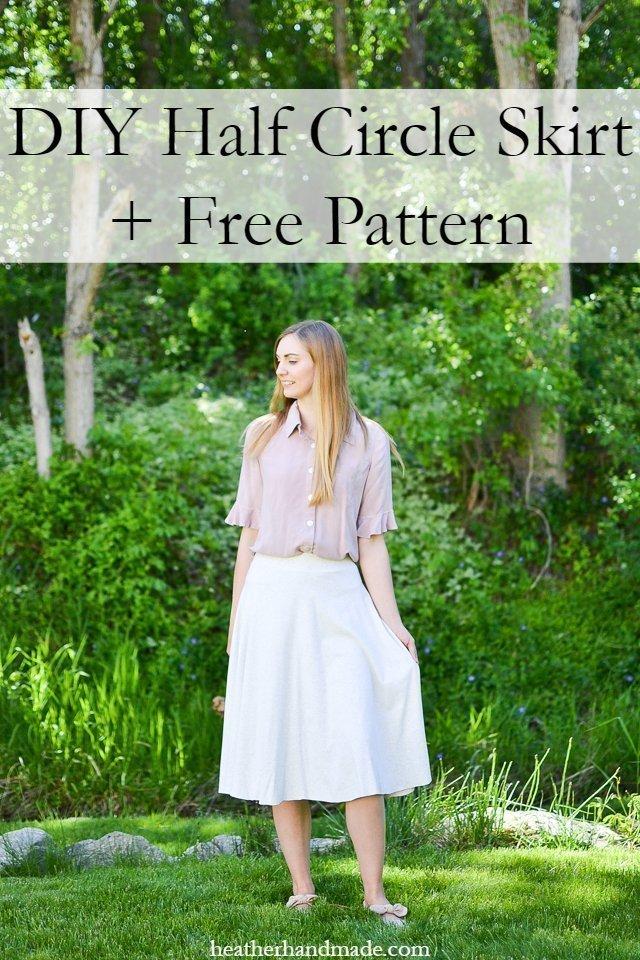 DIY Half Circle Skirt + Free Pattern