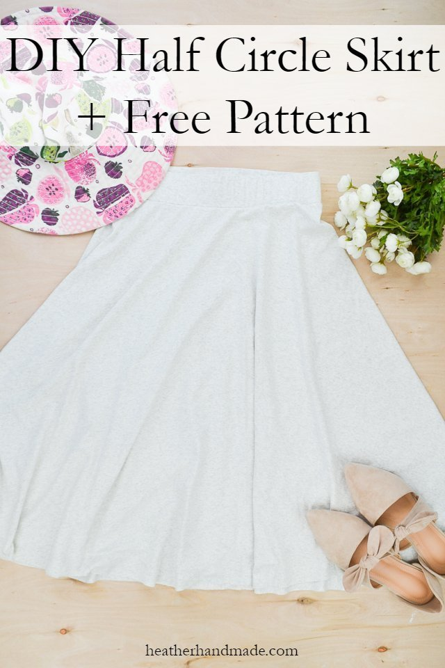 half circle skirt and free pattern