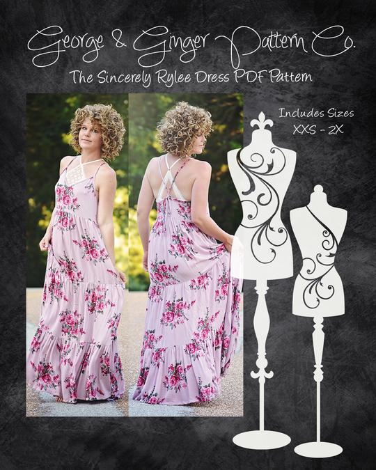 The Sincerely Rylee Dress PDF Sewing Pattern