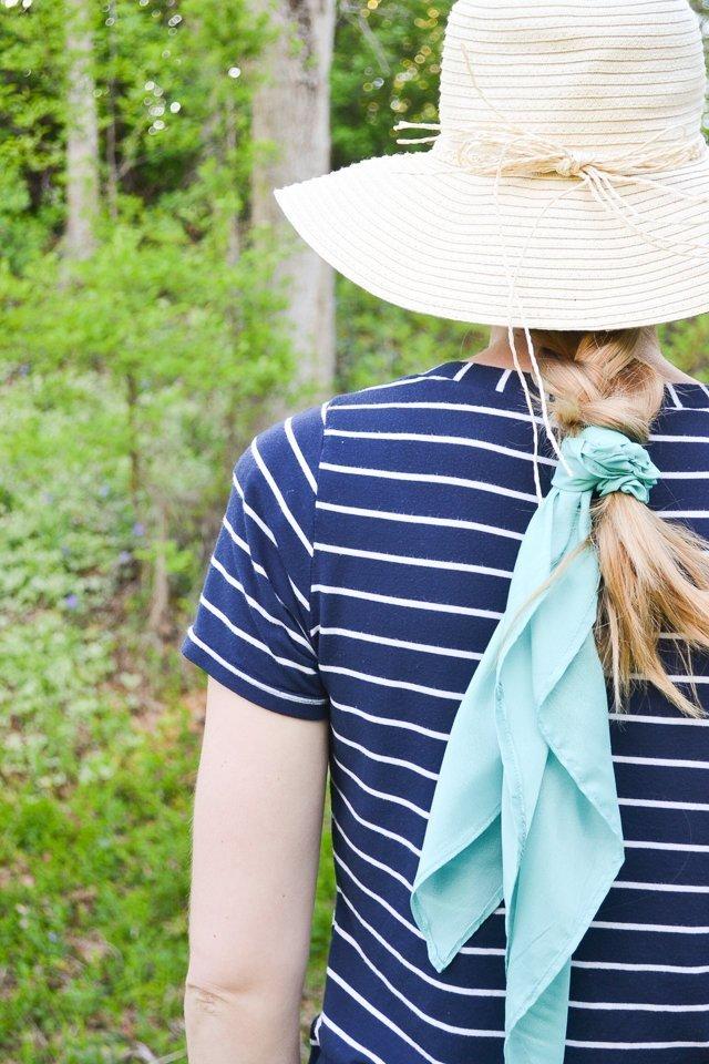 silk scarf woven hat