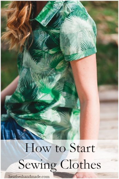 start sewing clothes