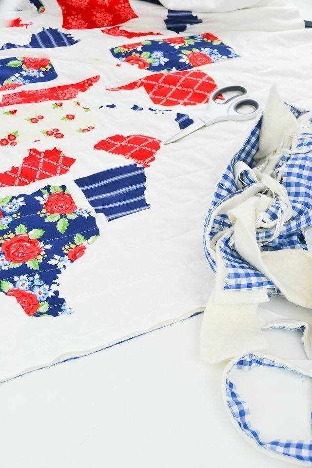 trim quilt edges