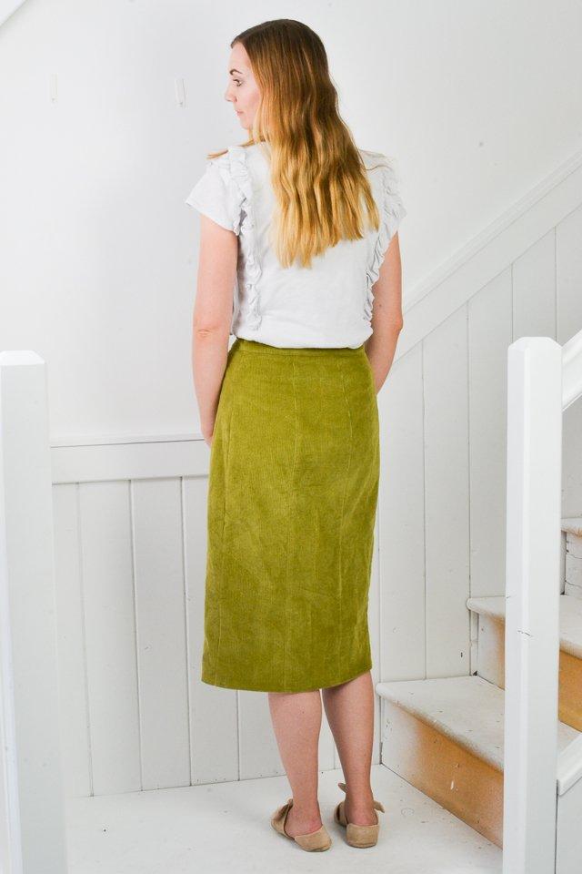 anna button up skirt