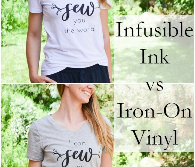 infusible ink vs iron-on vinyl