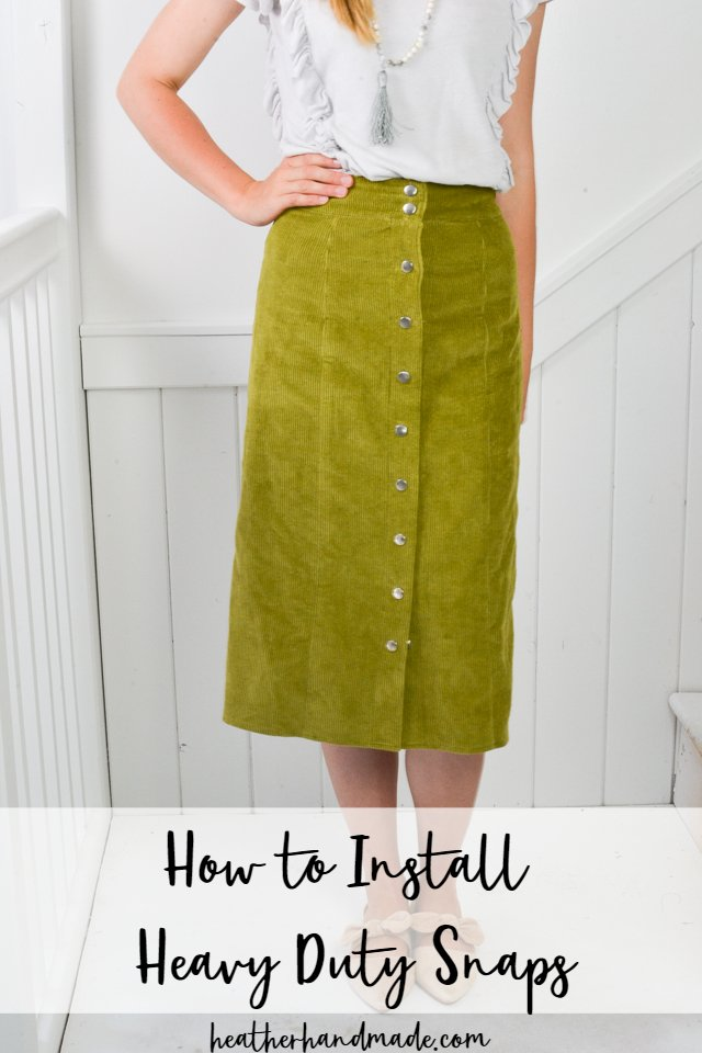 How to Install Heavy Duty Snaps and the Anna Women's Button-Up Skirt