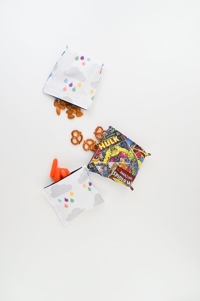 diy reusable snack pouches