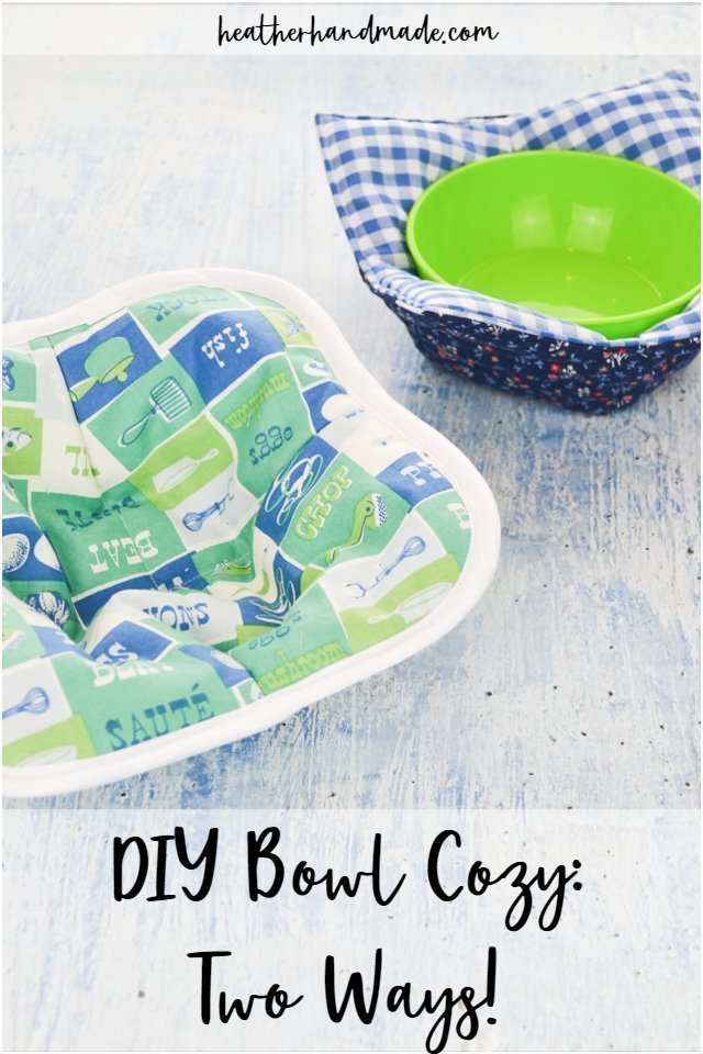 DIY Bowl Cozy: Two Ways!