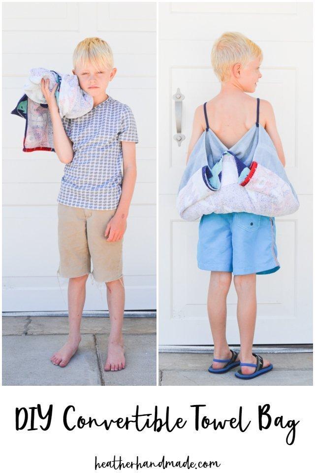 DIY Convertible Towel Bag
