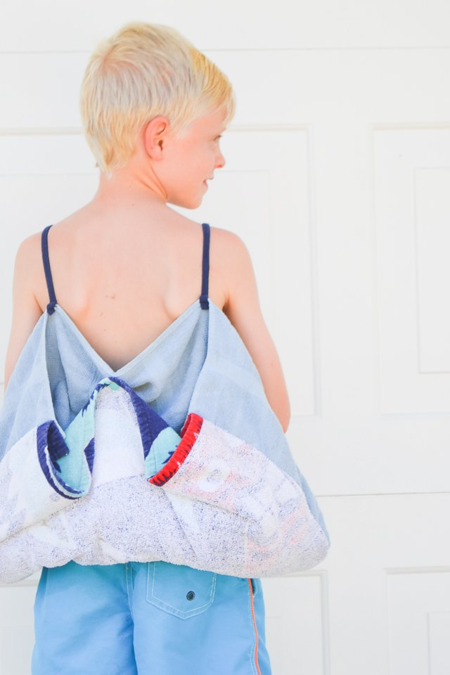 DIY Convertible Towel Bag